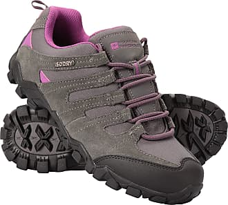Mountain Warehouse Belfour Womens Walking Shoes - Lightweight Hiking Shoes, Breathable, Lace Up Trainers - for Trekking, Gym & Running Grey Womens Shoe Size 5 UK