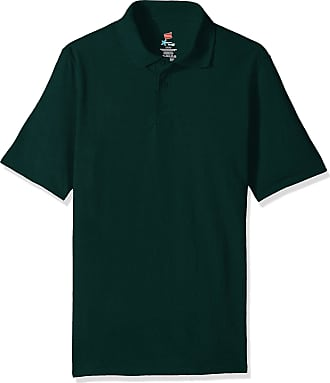 Hanes mensO055PShort Sleeve X-Temp W/FreshIQ Polo Short_Sleeve Shirt - Green - XL