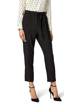 Pieces Womens Pcalbia Hw Pants Ff Trouser, Black, 12 (Size: Medium)