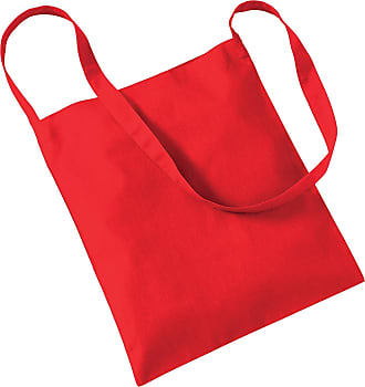 Westford Mill Womens Cotton Promo Sling Tote Everyday Shoulder Bag Bright Red One Size