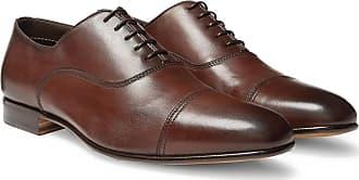 Santoni Leather Cap-toe Oxford Shoes - Brown