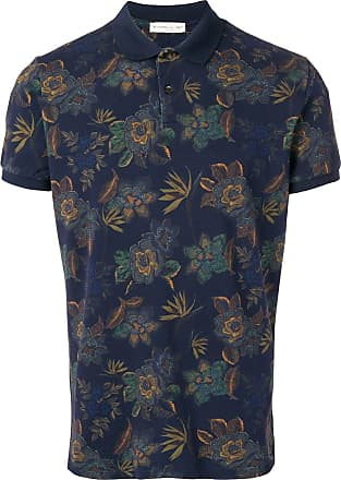 Etro floral polo shirt - Blue