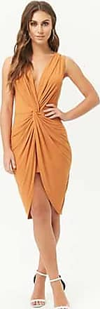 Forever 21 Forever 21 Twist-Front Tulip Dress Rust