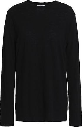 Zoe Karssen Zoe Karssen Woman Distressed Slub Cotton-jersey Top Black Size S