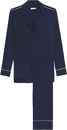 Equipment Equipment Woman Sonny Washed-silk Pajama Set Midnight Blue Size XL a997acb96