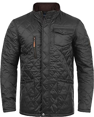 Blend Camilo Mens Quilted Jacket Puffer Jacket Padded Jacket with Funnel Neck, Size:M, Colour:Phantom Grey (70010)
