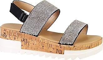 Yoki Womens BRENDA-19 Heeled Sandal, Black, 5.5 UK