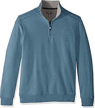 Van Heusen Mens Flex Long Sleeve 1/4 Zip Soft Sweater Fleece, Turquoise River, Small