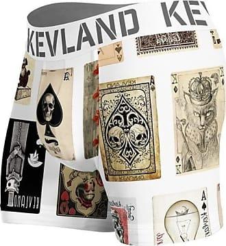 Kevland Underwear CUECA BOXER KEVLAND CARTAS DE BARALHO BRANCA (1, GG)