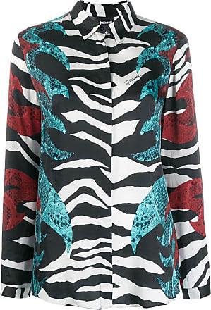 Just Cavalli Camisa mangas longas com estampa - Preto