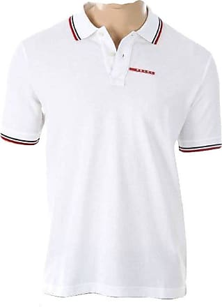 Prada Polo shirt short sleeve white brand for men model piquet (L)
