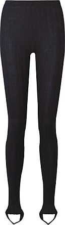Helmut Lang Ribbed Wool-blend Stirrup Leggings - Midnight blue