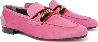 Tom Ford Wilton Chain-embellished Calf Hair Loafers - Pink