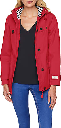 Joules Womens Coast Coat, Red (Red Purple Currant Redcurr), 8