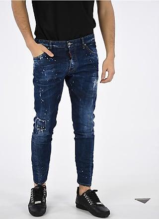 4254de82d04 Dsquared2 Jeans SEXY TWIST con Schizzi di Vernice 16cm taglia 56