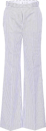 Victoria Beckham Striped cotton wide-leg trousers