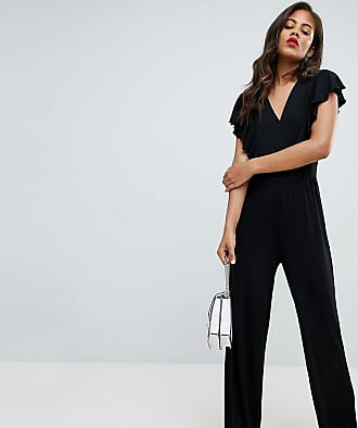 Y.A.S. Tall Samba Wrap Front Jumpsuit-Black