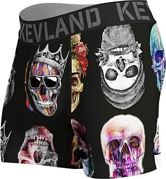 Kevland Underwear Cueca Kevland Boxer Colored Skulls Black KEV281 GG