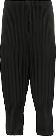 Homme Plissé Issey Miyake pleated cropped trousers - Black