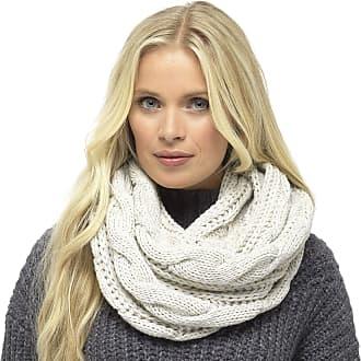 Foxbury Ladies Chunky Cable Knit Snood Grey