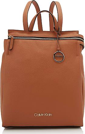 Calvin Klein Sided Backpack, Womens Brown (Cuoio), 1x1x1 cm (W x H L)