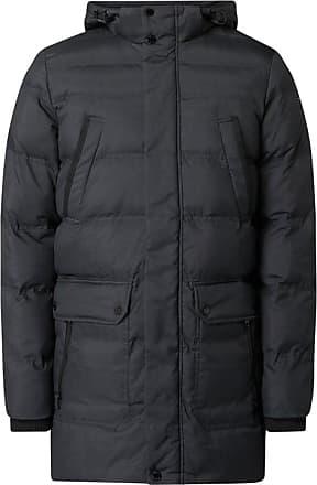 Geox Damen Jacke Daunen Mantel, Farbe: Dunkelgrau, Größe: 36