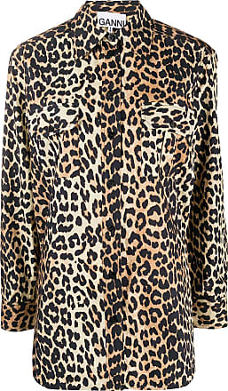 Ganni Camisa com estampa de leopardo - Neutro