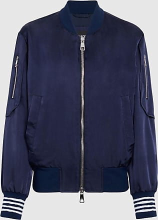 Neil Barrett Viscose Cupro Bomber With Sleeve Pockets