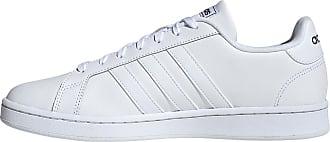 adidas Grand Court Sneaker Herren in ftwr white-ftwr white, Größe 47 1/3