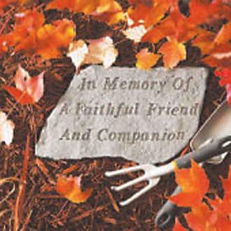 Kay Berry A Faithful Friend And Companion Pet Memorial Garden Accent Stone - 69920