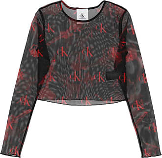 Calvin Klein Jeans Calvin klein jeans Printed mesh cropped top ROSES FURY XS