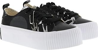 McQ by Alexander McQueen Plimsoll Platform Low Sneaker Black/ White