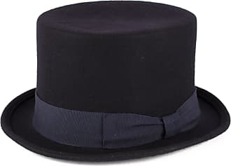 Hat To Socks Navy Wool Top Hat with Grosgrain Band Handmade in Italy