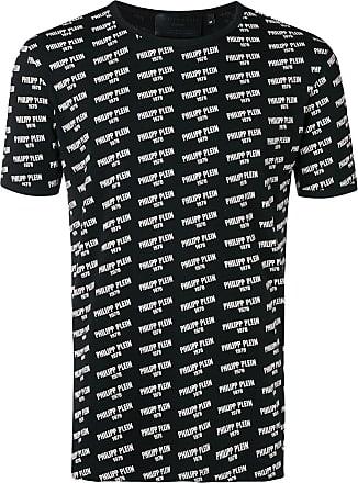Philipp Plein logo print crewneck T-shirt - Black