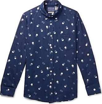 1f33f2a4e8c Blue Blue Japan Slim-fit Button-down Collar Polka-dot Cotton-twill