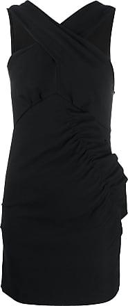 Iro crossover neck dress - Black