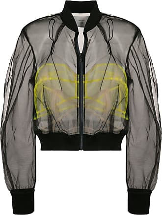 Quetsche sheer cropped bomber jacket - Black