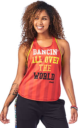 Zumba Active Backless Dance Fitness Tops Open Back Workout Tank Tops for Women, Really Red-y, M