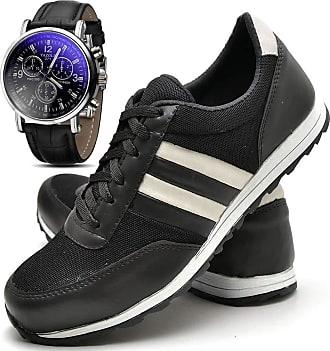 Juilli Kit Sapatênis Sapato Casual Com Relógio Masculino JUILLI 01DB Tamanho:39;cor:Preto;gênero:Masculino