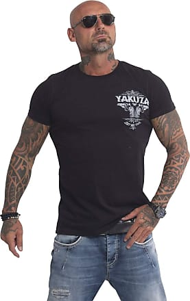 Yakuza Men T-Shirts Daily Use Black 2XL