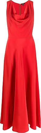 Aspesi Vestido com drapeado na gola - Vermelho