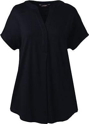 Lands End Langes Pima/Modal-Shirt in Petite-Größe - Schwarz - 32-34 von Lands End