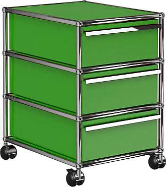 USM Haller Rollcontainer mit 3 Schubladen - USM grün/41.8 x 60.5 x 52.3 cm