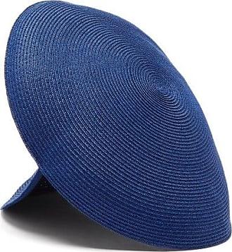 Flapper Antea Panelled Paper-blend Straw Hat - Womens - Blue