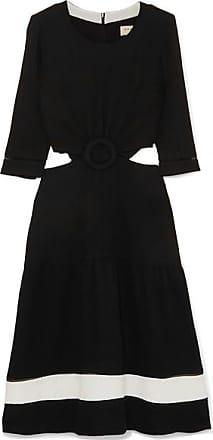 Zeus + Dione Parthenon Cutout Plissé-crepe Dress - Black