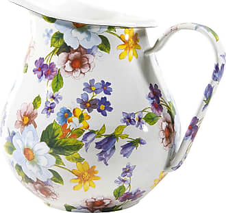 MacKenzie-Childs Flower Market Enamel Pitcher - White