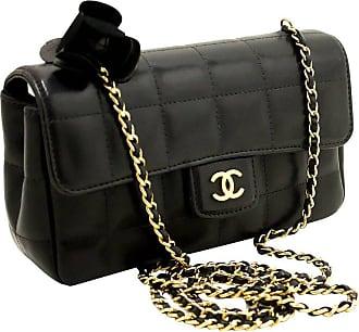 d93d278fd1b6 CHANEL BOUTIQUE Chanel Camellia Black Quilted Chocolate Bar Chain Shoulder  Bag