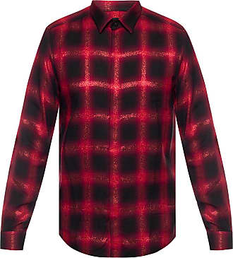 Diesel Checked Shirt Mens Red