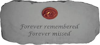 Kay Berry Outdoor Kay Berry Forever Remembered 29 in. Cast Stone Memorial Bench With Personalized Insert - 12665