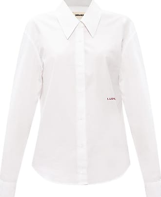 Zadig & Voltaire Embroidered Lettering Shirt Womens White